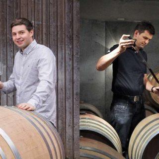 Die jungen Winzer Adrian Jauslin aus Muttenz und Martin Donatsch aus Malans präsentierten ihre ausgezeichneten Weine persönlich an einem gemeinsamen Weinabend.